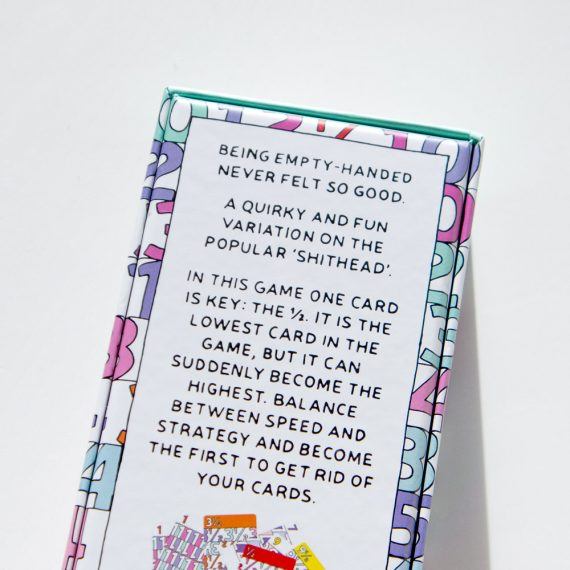 Mezza card game back box